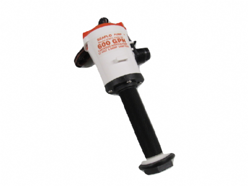 Live Bait Well Pump 12V 600GPH - Straight Tank Aerator Cartridge Bilge